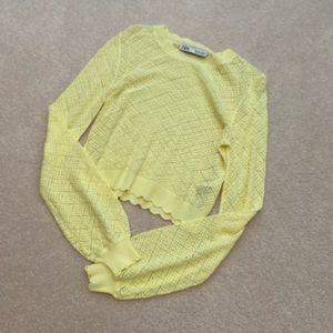 Zara Summer Knit Lace Top S